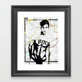 Print of Original Artwork Male Nude drawing in Pen Gay Interest Rare NLMK NLMKART Framed Art Print