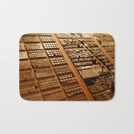 Art in Letterpress Bath Mat