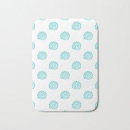 Aqua Spiral Abstract Pattern Bath Mat