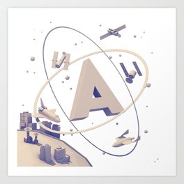 "The Letter ""A"" Art Print"