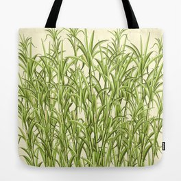 Sugar Cane Exotic Plant Pattern Tote Bag