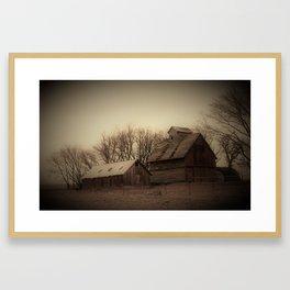 Yesterday Barns Framed Art Print