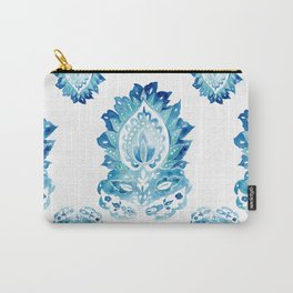 Blue Paisley Watercolor Motif Carry-All Pouch