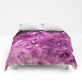 Amethyst Crystal Cave Comforters