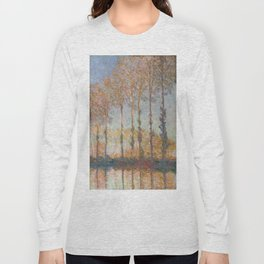Claude Monet, French, 1840-1926  Poplars on the Bank of the Epte River Long Sleeve T-shirt