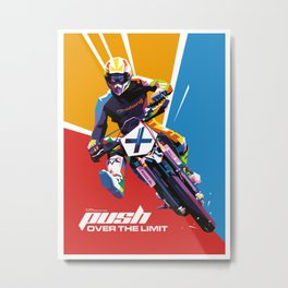 Motocross - Push Over The Limit #2 Metal Print