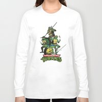 tmnt Long Sleeve T-shirts featuring TMNT by Neal Julian