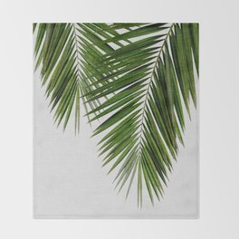 Palm Leaf II Throw Blanket