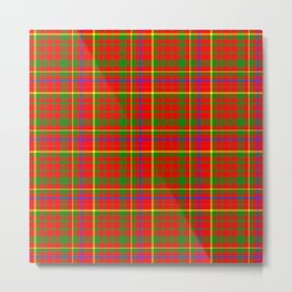 Tartan Vibrant Red Green and Blue Metal Print
