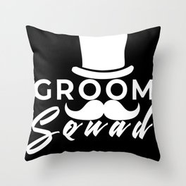 bachelor party, wedding, party Throw Pillow