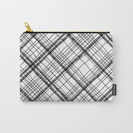 Scribble plaid: fun plaid pattern print Carry-All Pouch