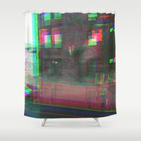 urban Shower Curtains featuring Urban by Jane Lacey Smith