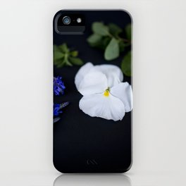Lavandula and a Pansy iPhone Case