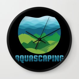 Aquascaping design I Aquarium Fish Tank Gardener Plant Gift Wall Clock