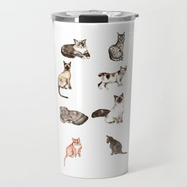 For cat lovers - watercolor of different cat breeds Travel Mug