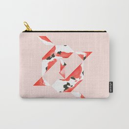 Tangram Koi - Pink background Carry-All Pouch