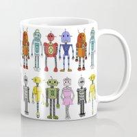 robots Mugs featuring Robots by Annabelle Scott