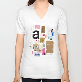 Paper Trail I  Unisex V-Neck