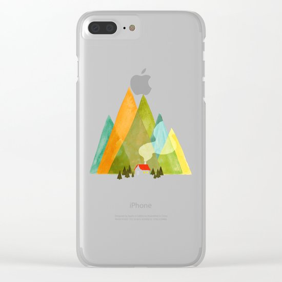 House at the foot of the mountains Clear iPhone Case