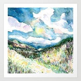 Night Hills 1 Art Print