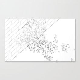 Detroit Wall Study 1 Canvas Print
