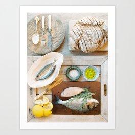 Rustic Lunch - Mallorca - Travel Photography Art Print