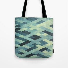Abstract Pattern in Blue Tote Bag