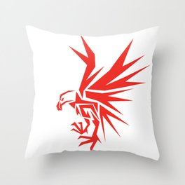 Abstract Red Eagle Throw Pillow