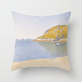 Port of Saint-Cast Throw Pillow