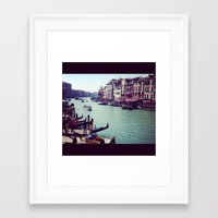 europe Framed Art Prints featuring Europe by Dani