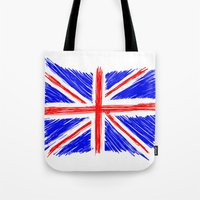 flag Tote Bags featuring Flag by Svetlana Sewell