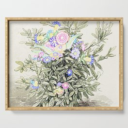 Floral Display Serving Tray