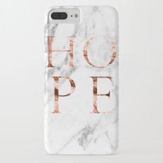Marble rose gold hope iPhone 7 Plus Slim Case