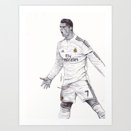 CR7 Drawing Art Print