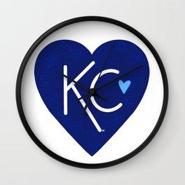KC Love Navy & Blue Wall Clock