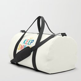 Keep Smiling - Colorful Happiness Quote Duffle Bag