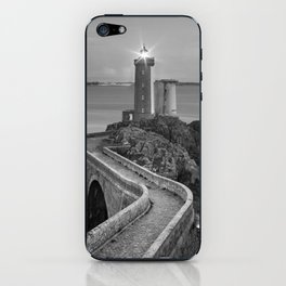 Black and White Plouzane - France iPhone Skin