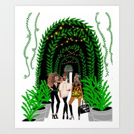 Black Models Art Print