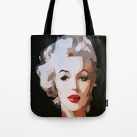 monroe Tote Bags featuring Monroe by The Art Of Gem Starr