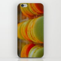 macarons iPhone & iPod Skins featuring Macarons by Chee Sim