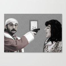 Le Pere Noel est une Ordure Canvas Print