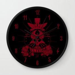 9-Lives Life Elixir (Red Lineart) Wall Clock