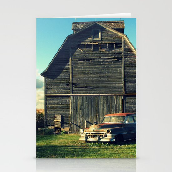Caddie and Barn Stationery Cards