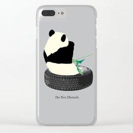 do not disturb. PANDA Clear iPhone Case