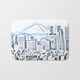 Mount Fuji China landscape Bath Mat