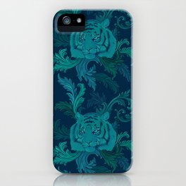 Tiger Greenery iPhone Case