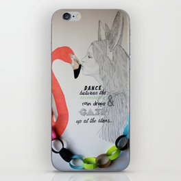 Dance between the raindrops & gaze up at the stars iPhone Skin