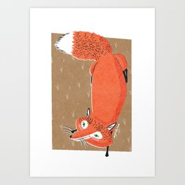 Green Eyed Fox Art Print