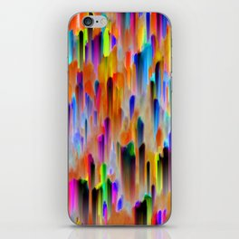 Colorful digital art splashing G393 iPhone Skin