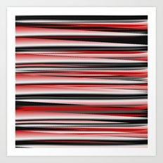 red & gray Art Print